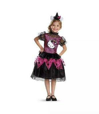 Hello Kitty Witch Classic Toddler Costume Small (2T) 2T Girl 2 Years Dress Hat](Toddler Girl Kitty Costume)