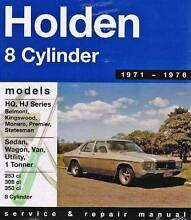 Holden HQ / HJ (8 cyl) 1971 - 1976 Gregorys Repair Manual Blacktown Blacktown Area Preview