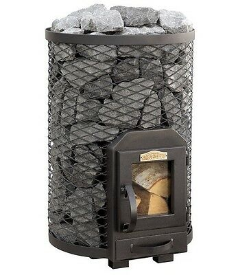 SAUNA Wood Burning Stove Round 13R for 6 - 13m3 steam room 15,4kW Without stones