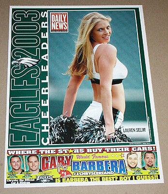 2003 LAUREN SELIM PHILADELPHIA EAGLES CHEERLEADERS FOOTBALL POSTER DAILY NEWS for sale  Bethlehem