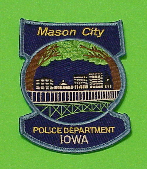 MASON CITY  IOWA  IA   POLICE DEPT. PATCH  FREE SHIPPING!!!