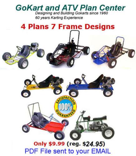 Gokart Plans 4 plans 7 designs Offroad ATV Quad 2 Seater - PDF sent to email.