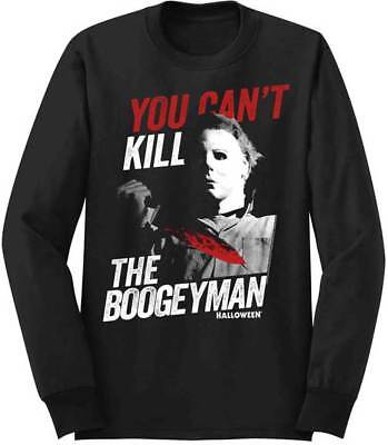 Halloween You Can't Kill The Boogeyman Adult Long Sleeve T Shirt Scary - Halloween The Boogeyman