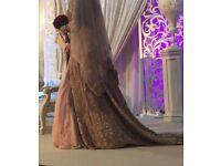 Stunning Asian heavy bridal dress size 10-12!!