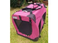 PETZ DEN Portable Folding Pet / Dog Carrier ~ Home/Camping/Travelling
