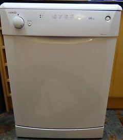 Beko white dishwasher - used