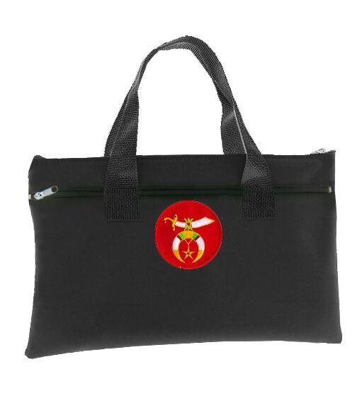 Shriners Black Masonic Tote bag for Freemasons on Red Background