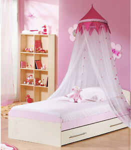 Pink Princess Canopy Mosquito Net Netting Mesh Bedroom Curtains Single Queen