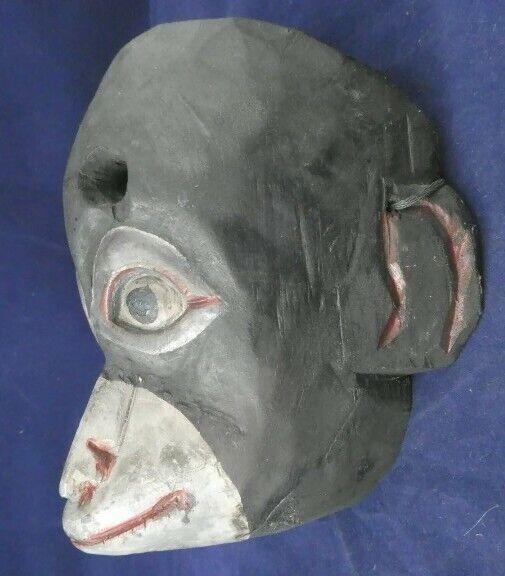 Guatemala Monkey Mask Antique Carved Wood Monito Dance Mask 1950