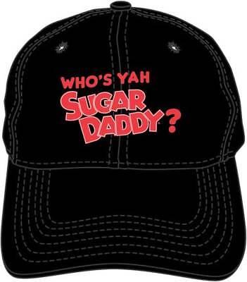 Who's Yah Sugar Daddy Candy Black Embroidered Dad Hat Baseball Cap BA01837TRIU