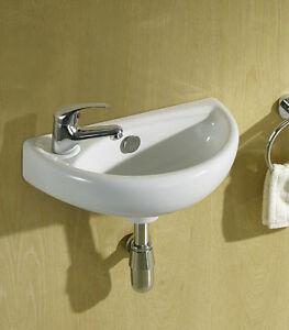Small Compact Mini Tiny Bathroom Cloakroom Basin Sink Wall