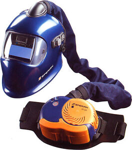 Sperian welding helmet and OS100 POWERED AIR system