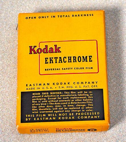 UNOPENED VINTAGE 1940s BOX 6X9 KODAK EKTACHROME