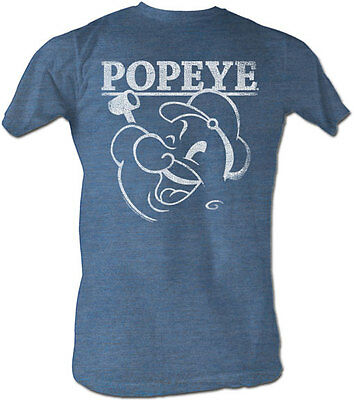 Popeye The Sailor Man Classic Cartoon Popeye Outline Adult T Shirt