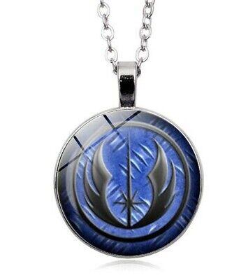 STAR WARS NECKLACE  JEDI BLUE Silver Pendant Necklace