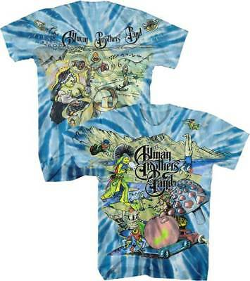 The Allman Brothers Band A/O Collage Tour 1996 M, L, XL, 2XL Tie Dye T-Shirt Allman Brothers Band Tour