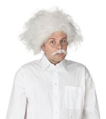 Scientist Wig Mustache Albert Einstein Mark Twain Mad Science Crazy White (Albert Einstein Mustache)