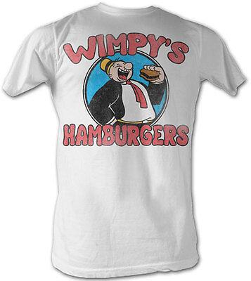 Popeye The Sailor Man Classic Cartoon Wimpy's Hamburgers Adult T Shirt