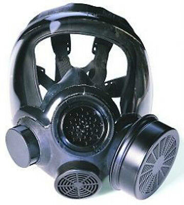 Msa Full Facepiece Respirator - Advantage 1000 Hycar Riot Control Gas Mask Lrg