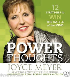 NEW! Power Thoughts  12 Strategies for Winning  by Joyce Meyer Unabridged 8 CDs
