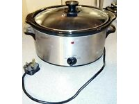 Slow cooker 3.5L silver 3 heat settings with removable pot