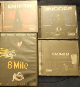 Eminem Cd's and 8Mile Dvd
