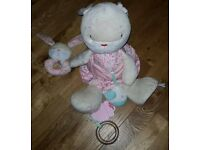 Mothercare My Little Garden Bunny - Soft toy and rattle