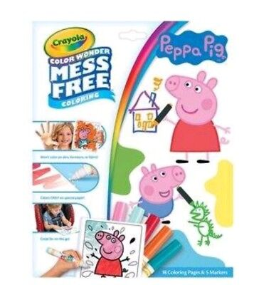 CRAYOLA COLOR WONDER PEPPA PIG~INCLUDES 18PGS & 5 MARKERS~FOR AGES 3+~NEW](Crayola Wonder Markers)