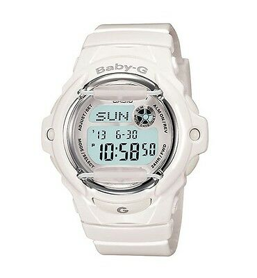 Casio Baby-G BG169R-7ACU Whale Series Women's White Silver Resin Digital Watch