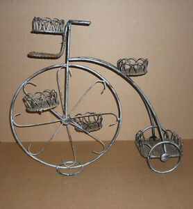Wrought Iron & Wicker Plant Stand Tricycle .. 3 Tier : Exc Cond Cambridge Kitchener Area image 1