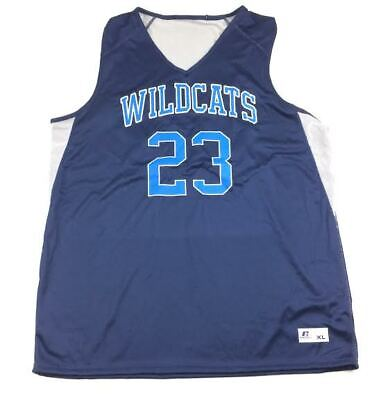 01609c21752 Russell Athletic Wildcats Reversible Basketball Jersey Men's Medium Navy  White