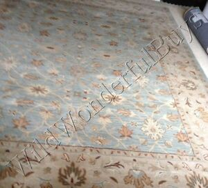 Pottery Barn Malika Rug Blue 2 5x9 Persian Wool Mallika Runner New