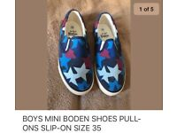 BOYS MINI BODEN SHOES PULL ONS SIZE 35 NEW