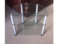 3 Shelf Toughened Glass TV/Music Centre Mount/Stand