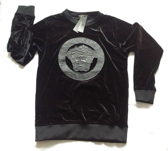 New Versace Velvet Jumper Top New With Tags Not Armani