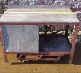 Taskmaster workbench, 4ft X 2ft steel garage bench