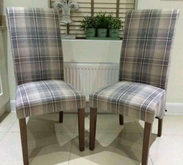 Next Pair Of Harlow Chairs In Grey Nevis Check In