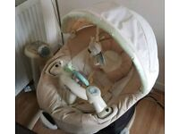 Graco Auto swing cloud 6 speed,mp3 connectivity, 15 songs etc RRP: £180 Beige