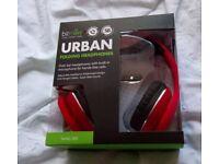 URBAN RED FOLDING HEADPHONES