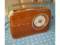 Bush retro FM MW radio Brown