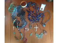Bundle of necklaces, pendants and bracelets