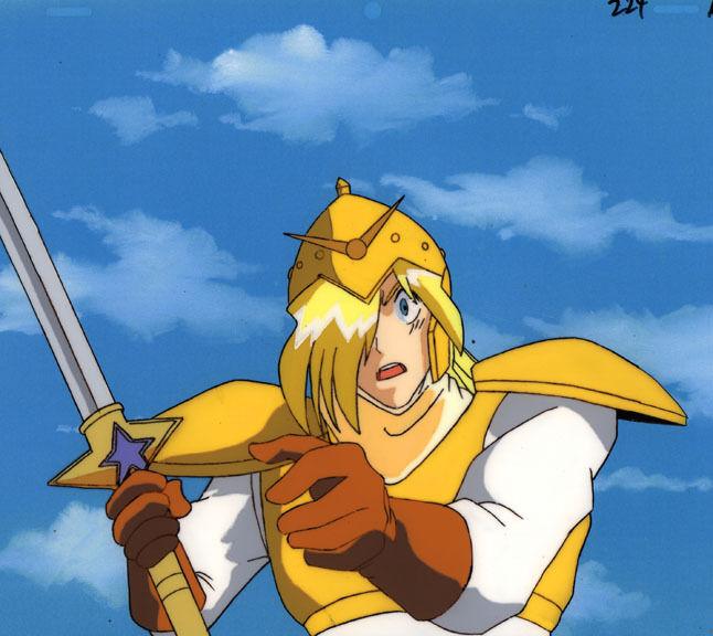 Slayers Anime Cel Douga Gourry Gavriev with Sword Animation Art Super Rare!