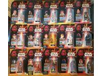 66 Star Wars figures EP1 EP2 PotF