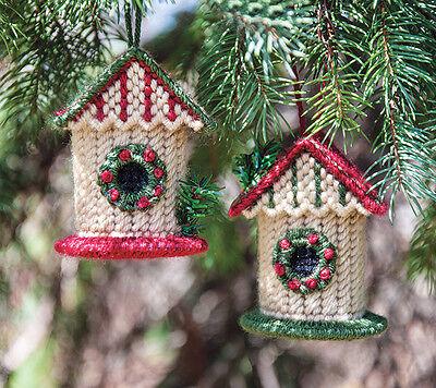 Mary Maxim Birdhouse Ornaments Cover Plastic Canvas Kit
