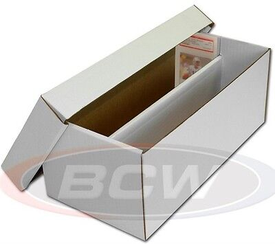 Graded Card Shoe Box for Graded Cards 10 Tall Dividers Cardboard Storage