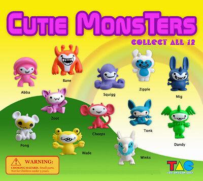 250 Pcs Vending Machine 0.500.75 Capsule Toys - Cutie Monsters