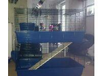 2 tier indoor Rabbit/Guinea pig cage/hutch