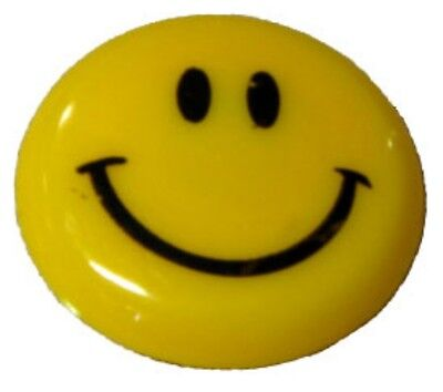 Package Of 10 Smiley Face Pins Magnetic For Dry Erase Boards Or Refridgerator