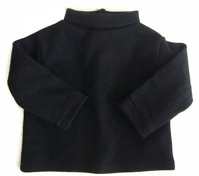 "Black Long Sleeve T-Shirt Turtleneck for 18"" American Girl Doll Clothes"