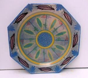 Superb quimper art deco octagonal hand painted plate 3 for Deco quimper